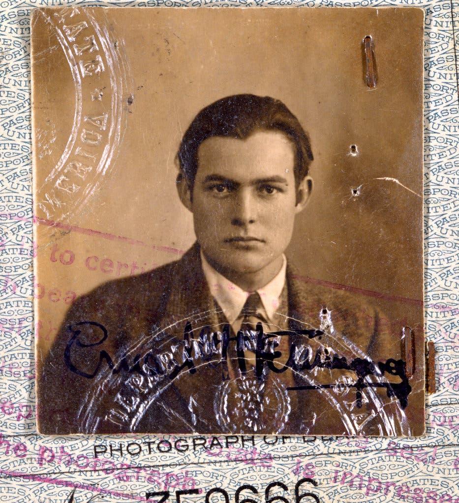 A photograph of Ernest Hemingway